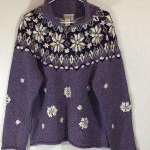 Coldwater Cceek Norwegian purple sweater Sz L